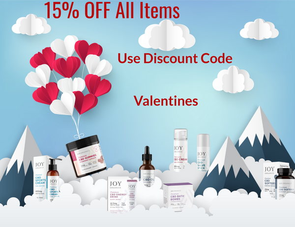 CBD Valentines Day Sale 15% OFF