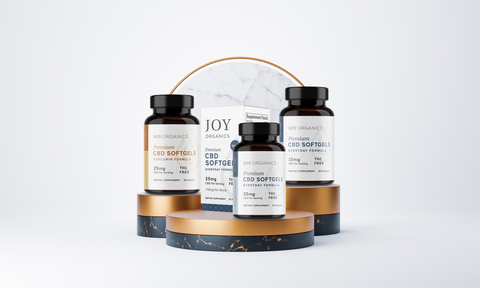 CBD Softgel Capsules in the UK available in Everyday formula and curcumin