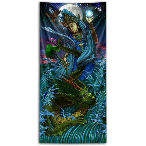 Kwanyin Tapestry by Luke Brown