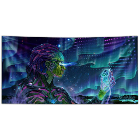 Starseed Awake Tapestry by Luke Brown