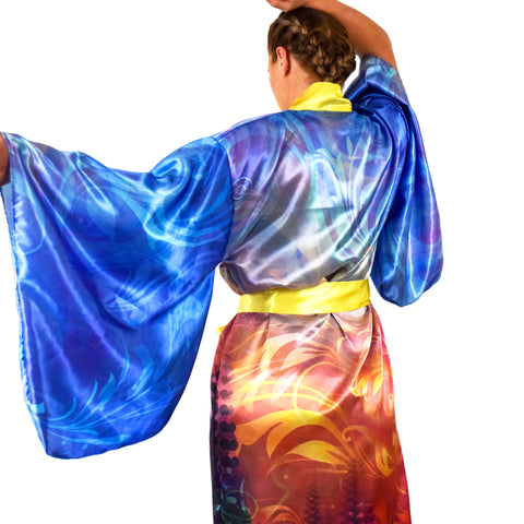 Agostina Sky Ephemeral Robe by Simon Haiduk