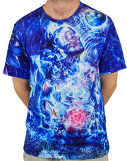 Transcension Short Sleeve Tee Shirt by Cameron Gray