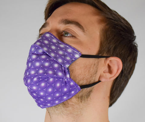 Geo Burst Gold Surgical PPE Face Mask by Dima Yastronaut
