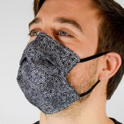 Geo Mix Black Surgical PPE Face Mask by Dima Yastronaut
