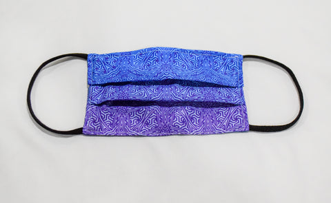 Geo Mix Blue & Purple Surgical PPE Face Mask by Dima Yastronaut
