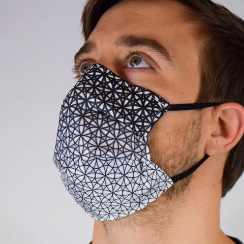 Geo Seed Black & White Surgical PPE Face Mask by Dima Yastronaut