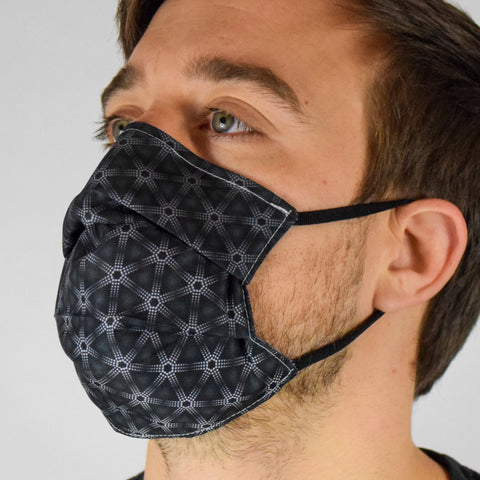 Geo Tri Black Surgical PPE Face Mask by Dima Yastronaut