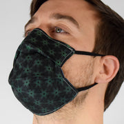 Geo Tri Green Surgical PPE Face Mask by Dima Yastronaut