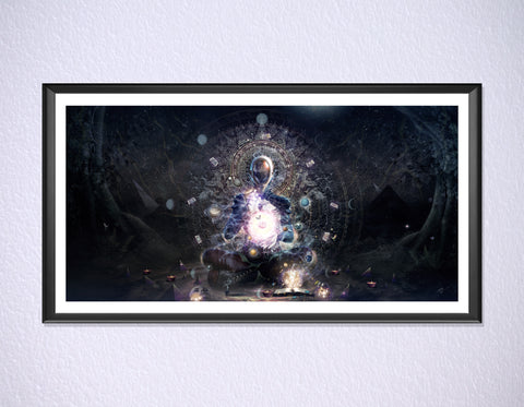 Cosmic Ritual Print by Cameron Gray