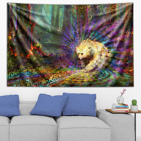 Spirit Bear Tapestry by Simon Haiduk
