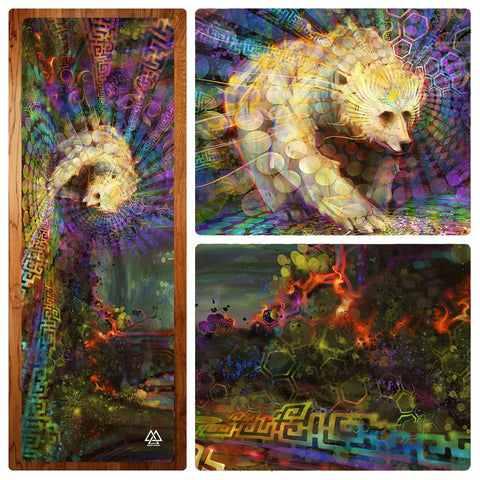 Spirit Bear Yoga Mat by Simon Haiduk