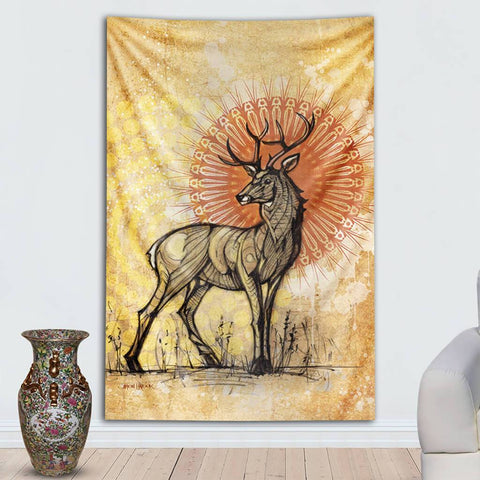 Stag Tapestry by Simon Haiduk