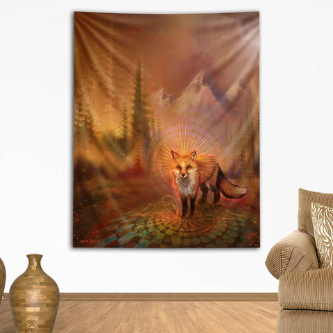 Wise Fox Tapestry by Simon Haiduk