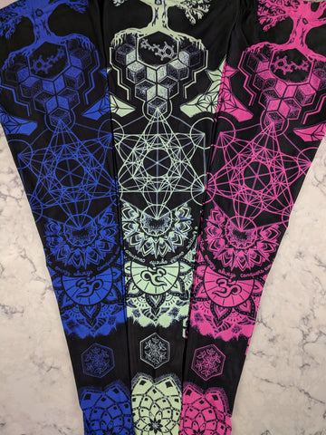 Remixed Geometric Leggings by Mil Et Une