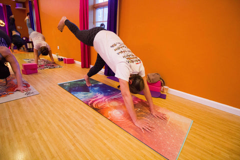 Divine Moments Yoga Mat by Totemical