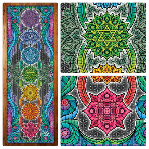 Chakra Bliss Yoga Mat by I Am Electric