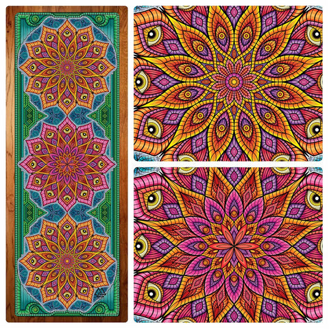 Mandala Magic Yoga Mat by I Am Electric