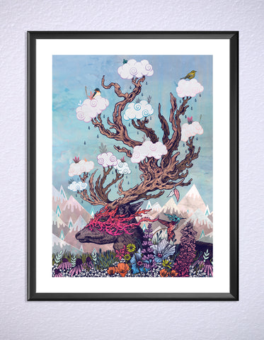 Journeying Spirit Deer Print by Mat Miller