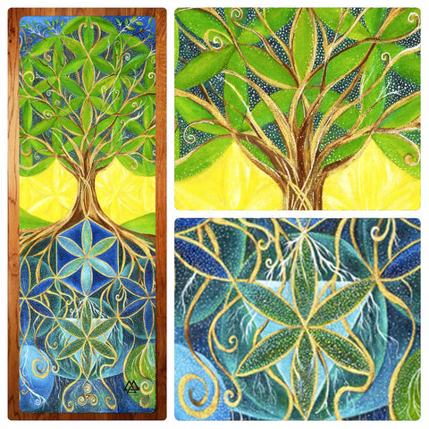 Summer Tree Yoga Mat by Karen Schaefer