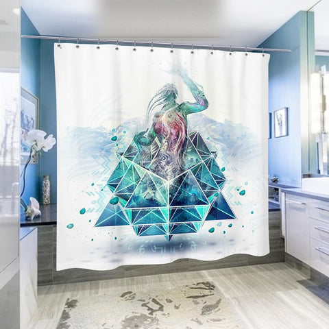 Stone Riser Shower Curtain by Totemical