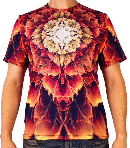 Mandala Bloom Short Sleeve Tee Shirt by Psiloteric Visions