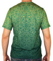 Geo Mix Green Short Sleeve Tee Shirt by Dima Yastronaut