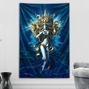 Cerulean Translucency Tapestry by Totemical