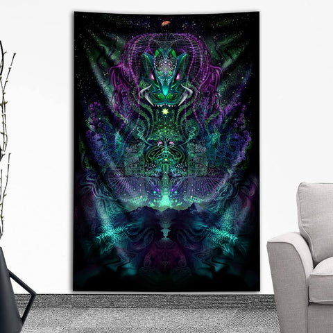 Huachuma Tapestry by Totemical
