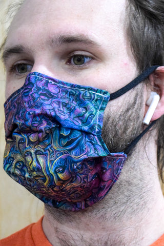 Sea of Faces Surgical PPE Face Mask by Scott Tuckfield