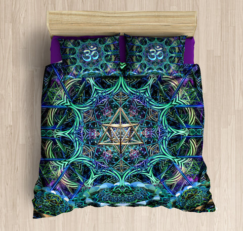 Astral Voyager Bed Set by Dima Yastronaut