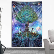 Divine Balance Tapestry by Dima Yastronaut