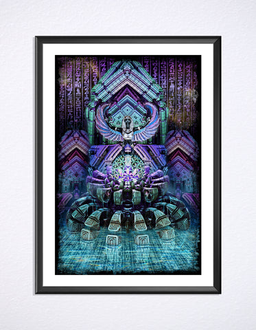Blue Lotus Print by Dima Yastronaut