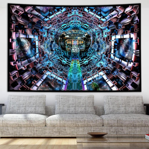 Spaceship Tapestry by Dima Yastronaut