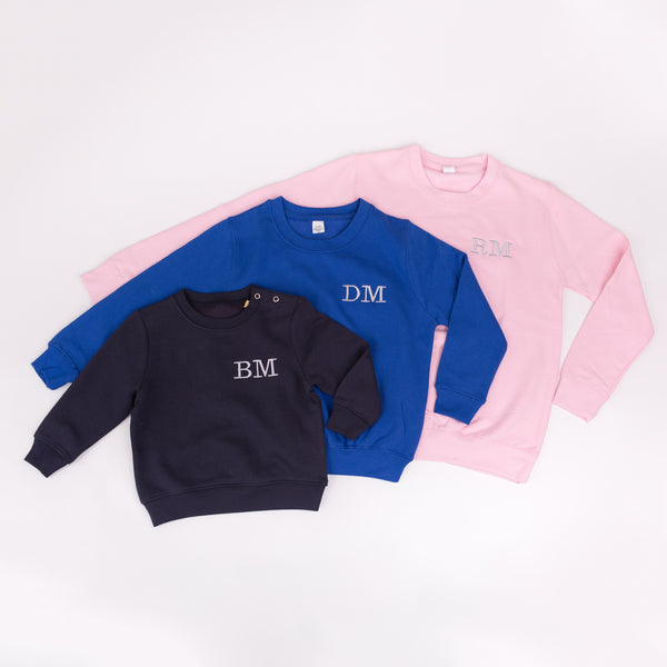 Monogrammed Kids Sweatshirt | Ted & Stitch