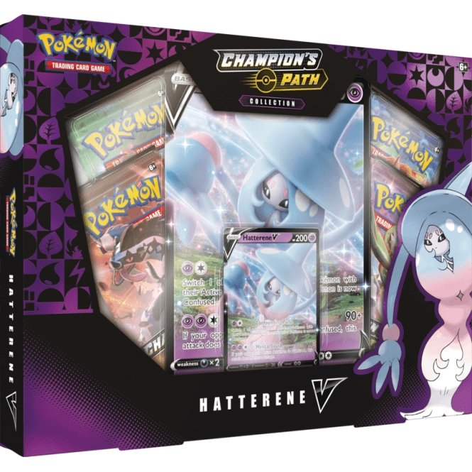 Pokemon TCG: Champion's Path Hatterene V Box (SWSH3.5) - The Gaming Place