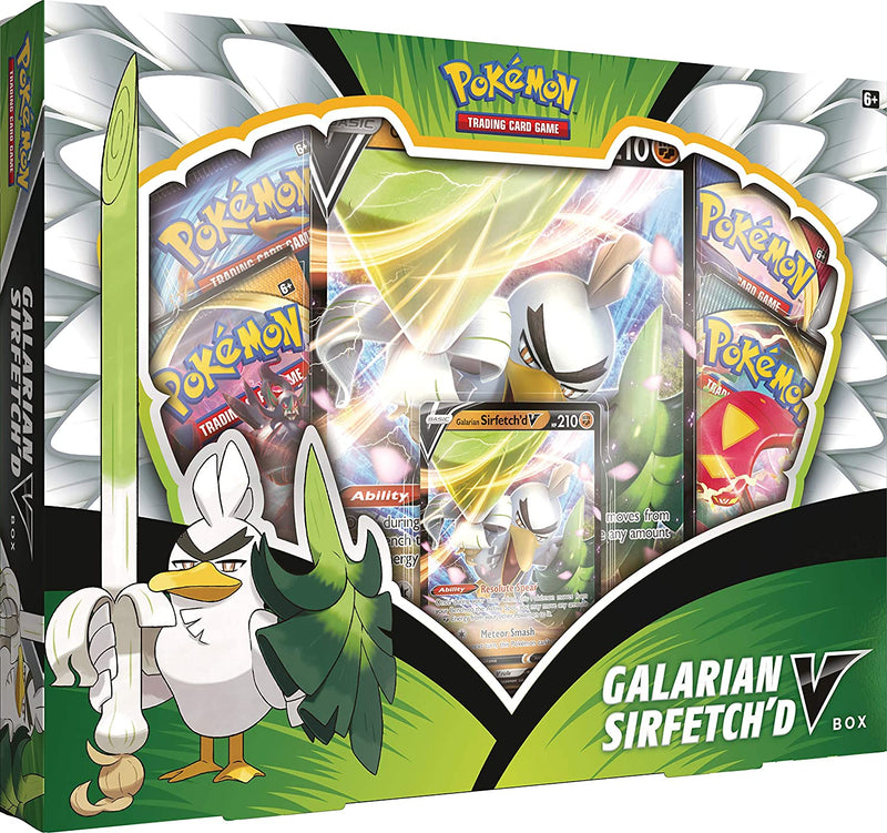 Pokemon TCG: Galarian Sirfetch'd V Box - The Gaming Place