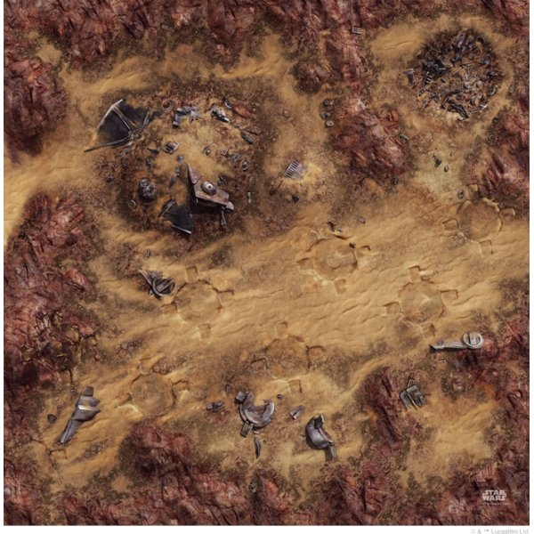 Star Wars Legion : Desert Junkyard Gamemat - The Gaming Place