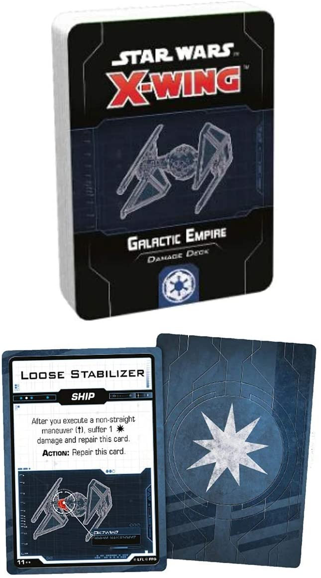 Star Wars X-Wing: Galactic Empire Damage Deck - The Gaming Place