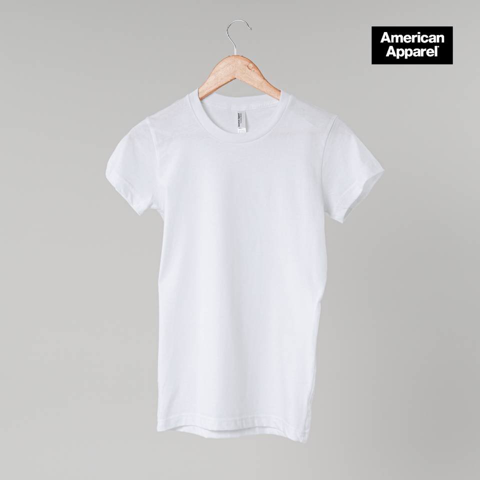 T-shirt col rond American Apparel femme personnalisable - Panopli