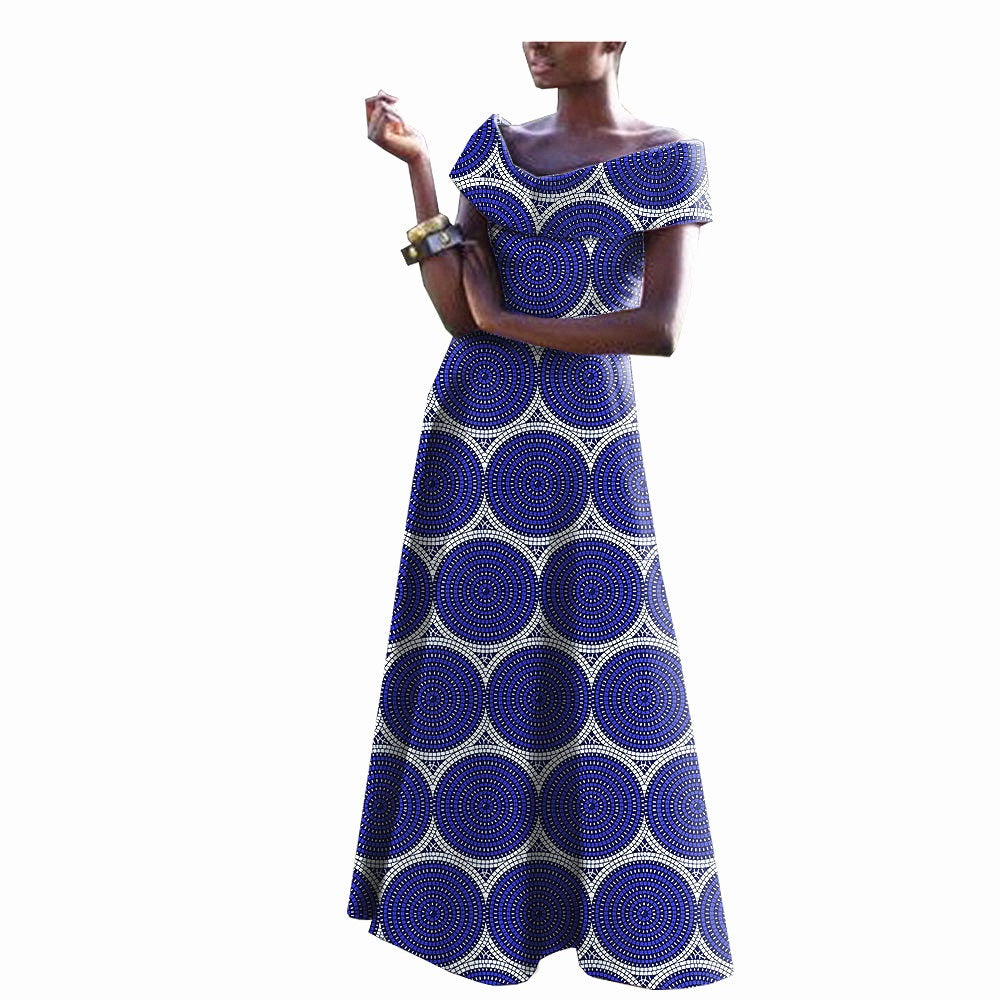 100% cotton--african real wax flower printed dress--722549-2