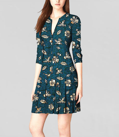 100_cotton-dress--african-wax-flower-printed--blue