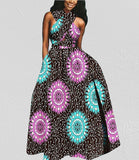 100% cotton dress--african wax flower printed--1925037