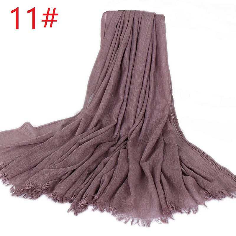 11 colors--big size--cotton scarf,shawl, muslim hijab AW-VS77