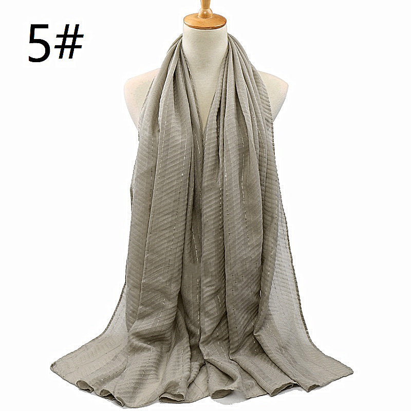 16 colors--wrinkle--sequins--cotton scarf,shawl, muslim hijab AW-VS176