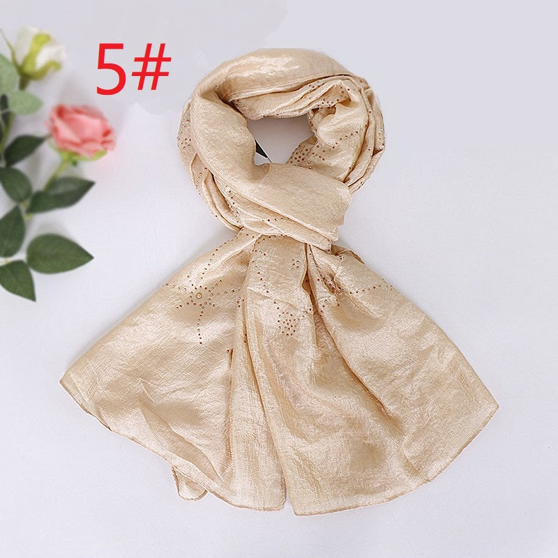 12 colors-glitter stone--cotton scarf,shawl, muslim hijab AW-VS105