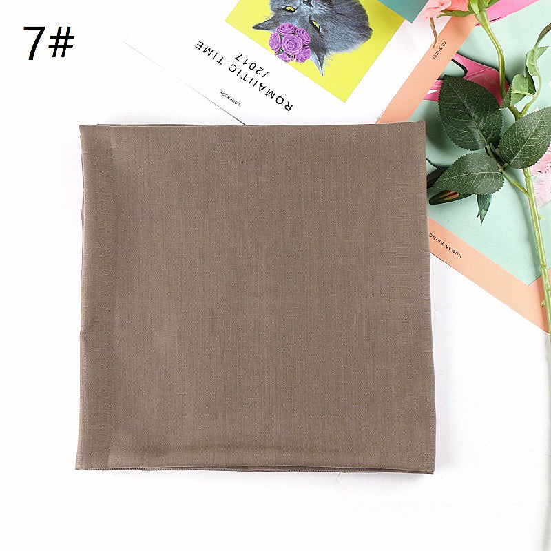 12 colors--solid--square cotton scarf,shawl, muslim hijab AW-VS185