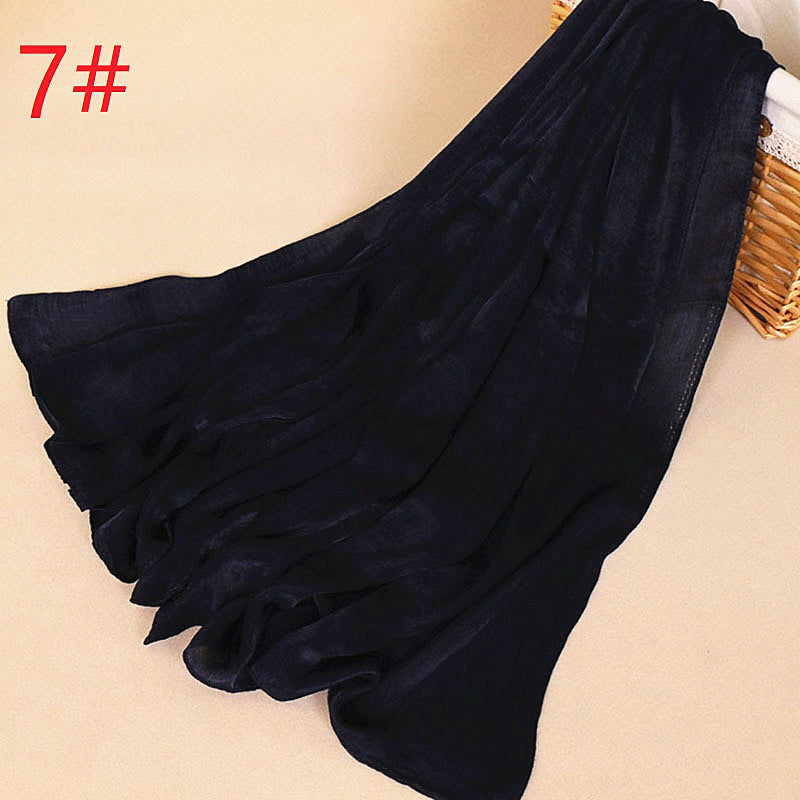 19 colors--solid silk-tough--wide scarf,shawl, muslim hijab AW-ZS56