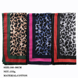 3 colors--leopard-printed--cotton scarf,shawl, muslim hijab AW-VS178