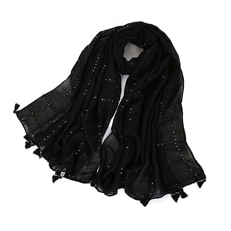 4 colors-sequins--cotton scarf,shawl, muslim hijab AW-VS095