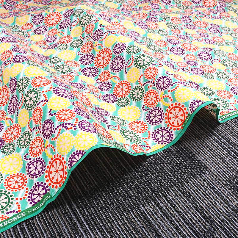 6 yard--wide african flower printed wax fabric--polyester--yellow orange--FP6180